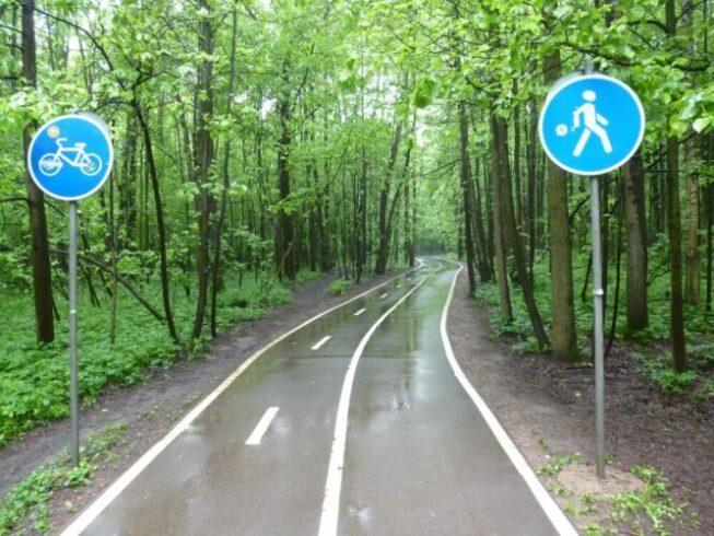 Велосипедные дорожки в Битцевском парке