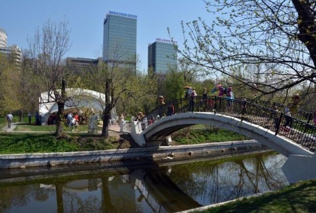 Парк «Красная Пресня» в центре Москвы
