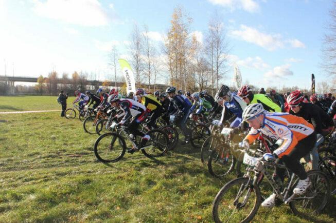 Велогонки в парке Строгино