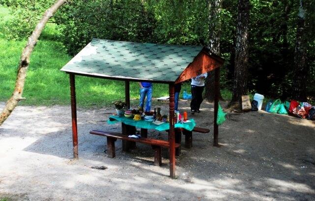 Беседка в Тропарёвском парке