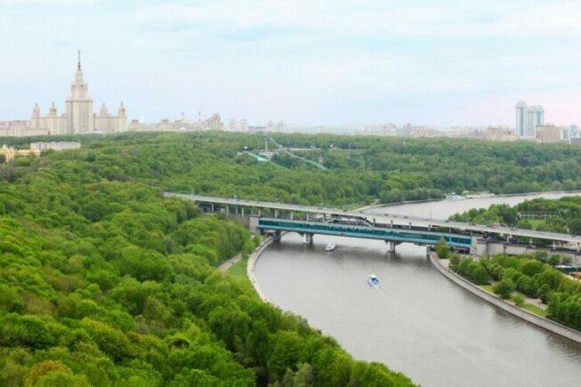 Вид с Ворьбевых гор в Москве