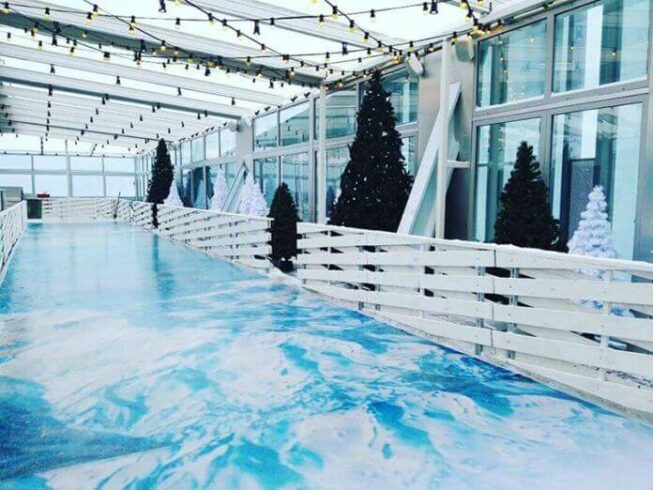 Ледовая площадка Москва-Сити
