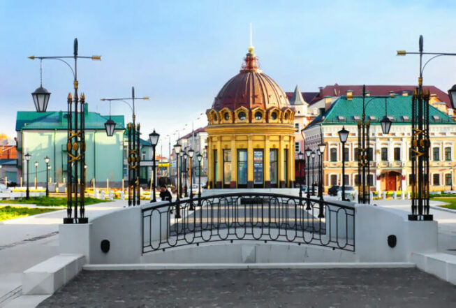 Улица Петербургская в столице Татарстана