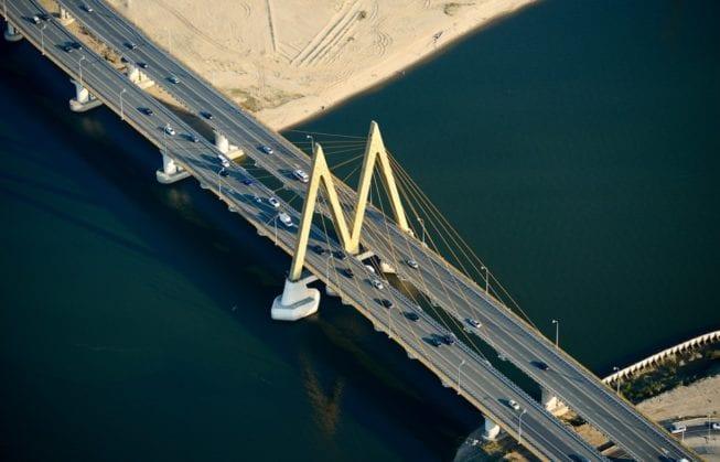 Вантовый мост Миллениум через реку Казанку